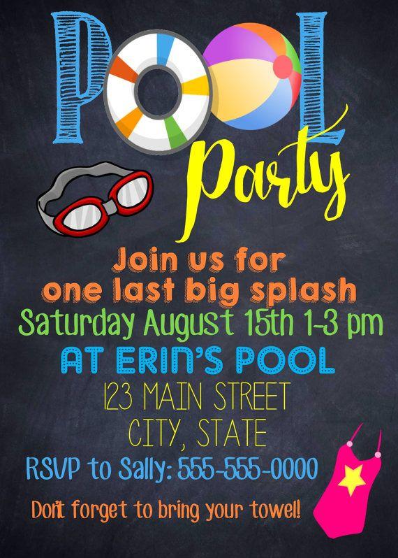 Best 25 Pool Party Birthday Ideas On Pinterest Kids