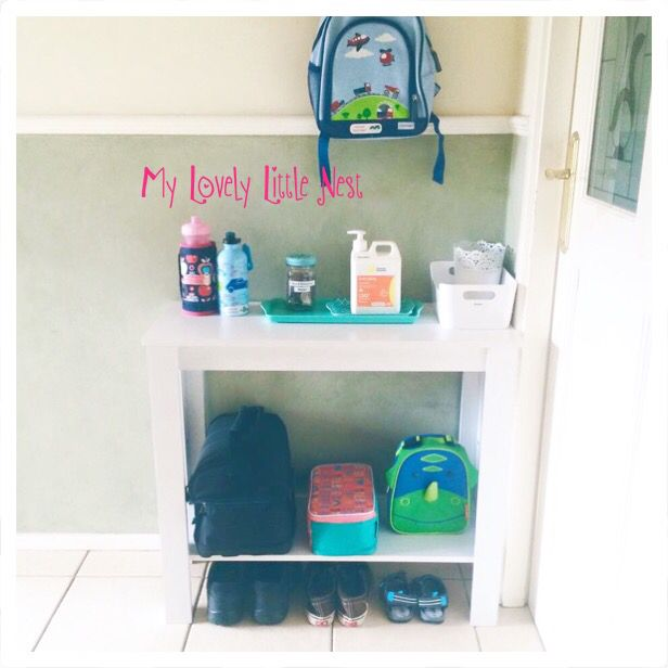 Kmart hack using the hall table as a school station   https://www.facebook.com/Mylovelylittlenest