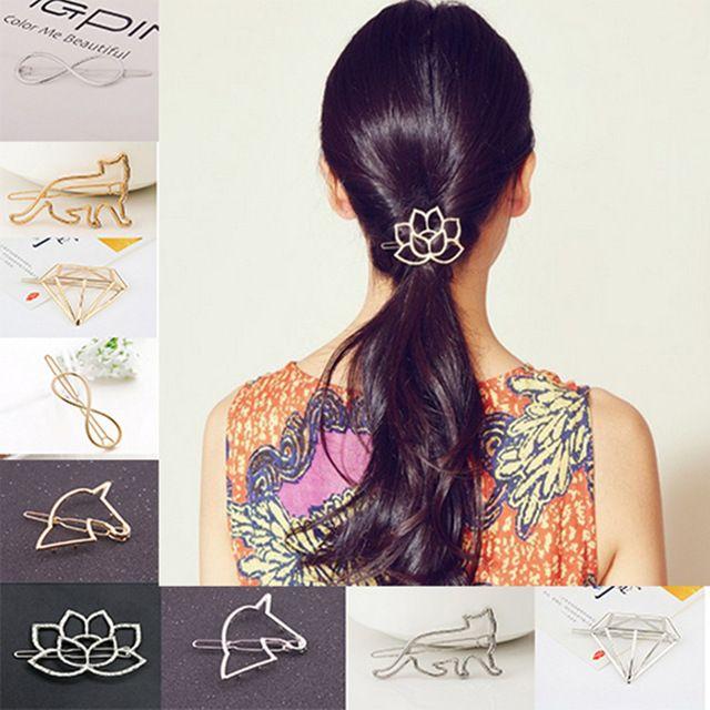Lotus Geometria Kot Wyjątkowemu Projektowi Metalowe Spinki Do Włosów Spinki Hairwear Akcesoria Dla Kobiet Dziewczyna Biżuteria Darmowa wysyłka