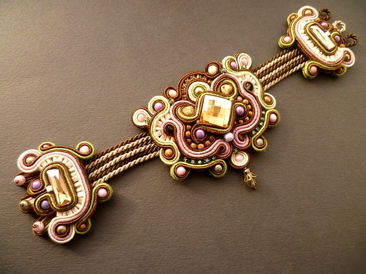 Soutache work by Csilla Papp. Inspiration