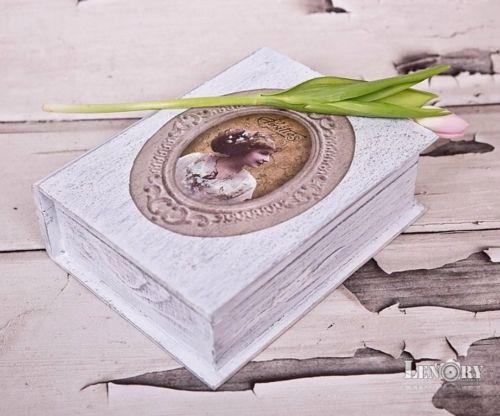 kniha -album-šedá patina
