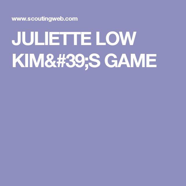 JULIETTE LOW KIM'S GAME