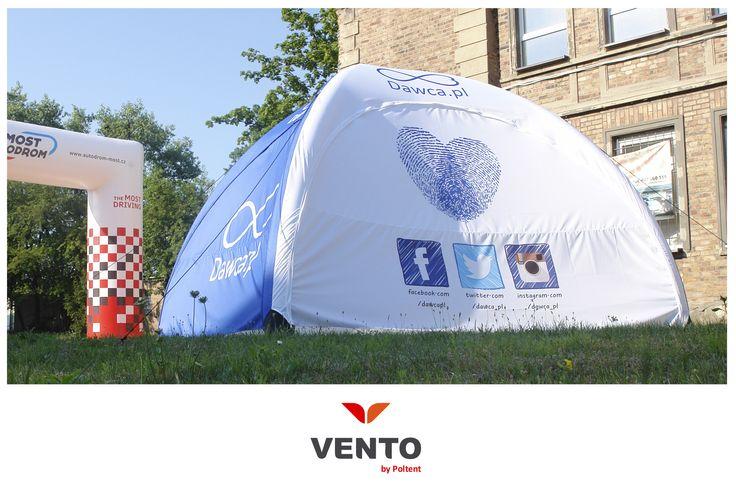 Namiot Vento dla Dawca.pl Przyłącz się do akcji i zostań świadomym dawcą!