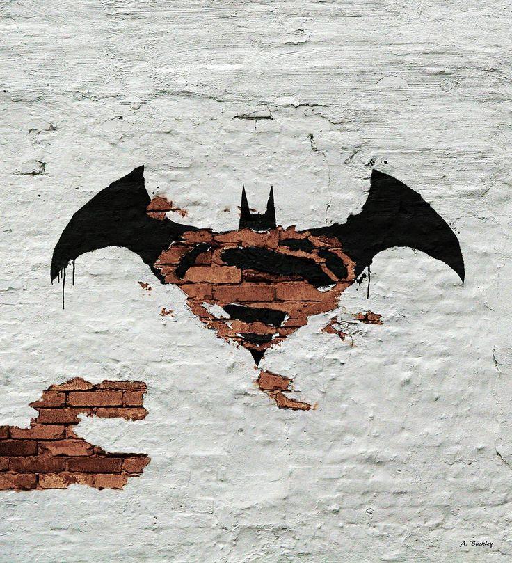 Graffiti version of the Batman/Superman Logo
