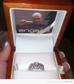 ENGAGE *helpless giggles*: Geek, Nerd, Stuff, Wedding, Proposal, Funny, Startrek, Engagement Ring, Star Trek