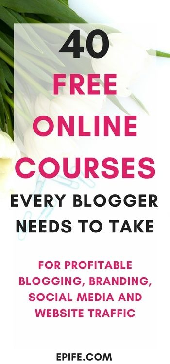 Did I mention online courses are an absolute gold? These free online courses for bloggers cover profitable blogging, which improves your blogging skills. #online #courses https://occu.info