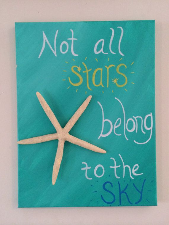 Not All Stars Belong to the Sky  Beach Canvas by TheArtofPeace