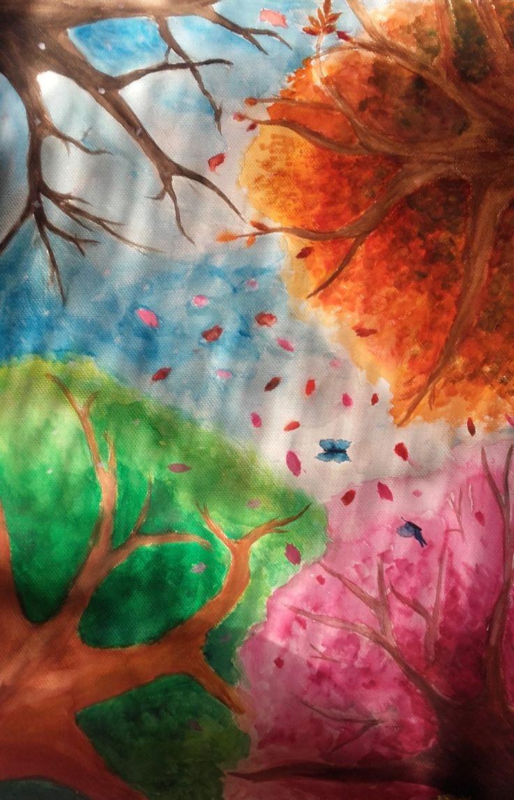 """[""""Four seasons"""", watercolour by me]"""