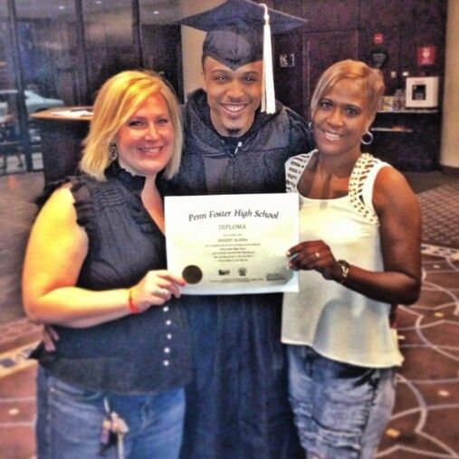 August his teacher & his mother.  Gota respect a man who went back and completed his high school education.  In spite of what haters say. Cant get nowhere with out one better late than never