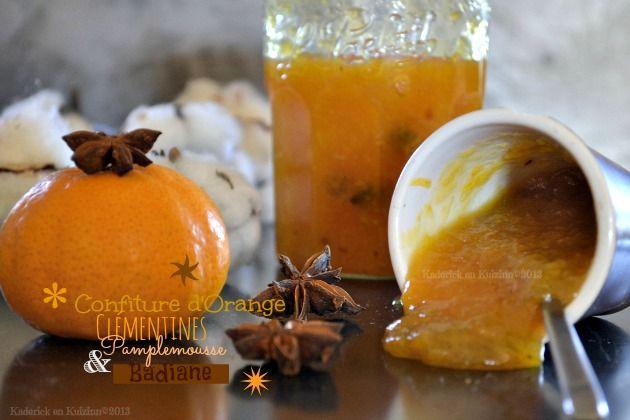 #Recette #confiture d'#orange, #clémentine, #pamplemousse #bio & #badiane pour un mélange subtil entre les #agrumes et à l'#anis étoilé #chandeleur #crepes
