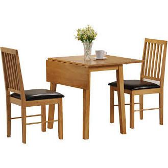 Palma 46-92cm Drop Leaf Dining Table with 2 Chairs
