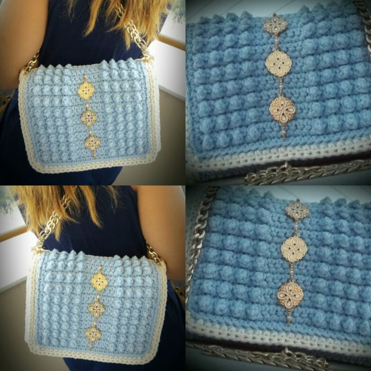 New design...new stitch... ''Aphrodite'' is a new obsession...💙💙 by Passionis handmade accessories