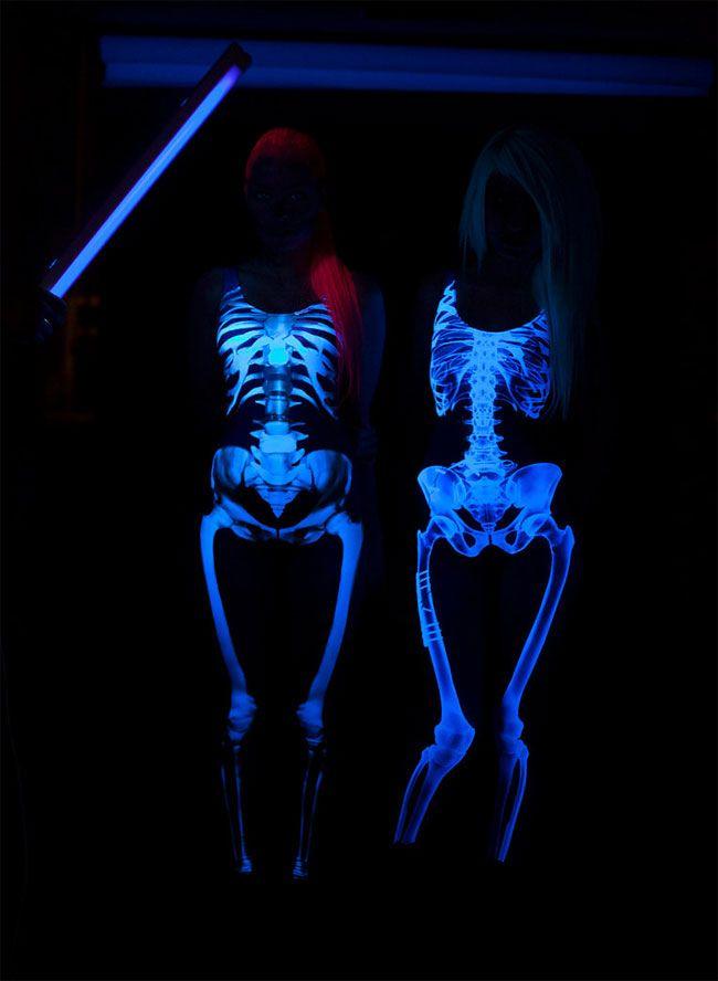 Glow-In-The-Dark Full Body Skeleton Costume (by BANDIKA)                                                                                                                                                                                 More