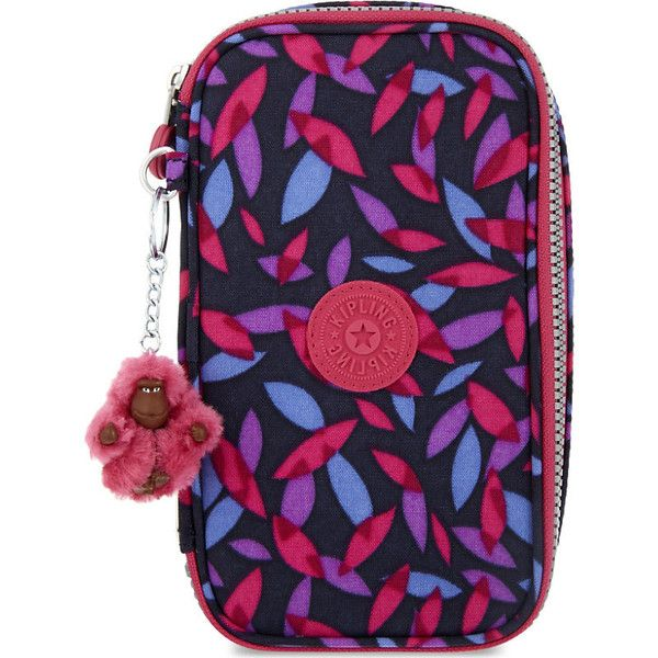 Kipling 50 pens back to school pencil case (110 BRL) ❤ liked on Polyvore featuring home, home decor, office accessories, multiple color pen, kipling pencil case, multicolored pens, multi colored pencil and colored pencil case
