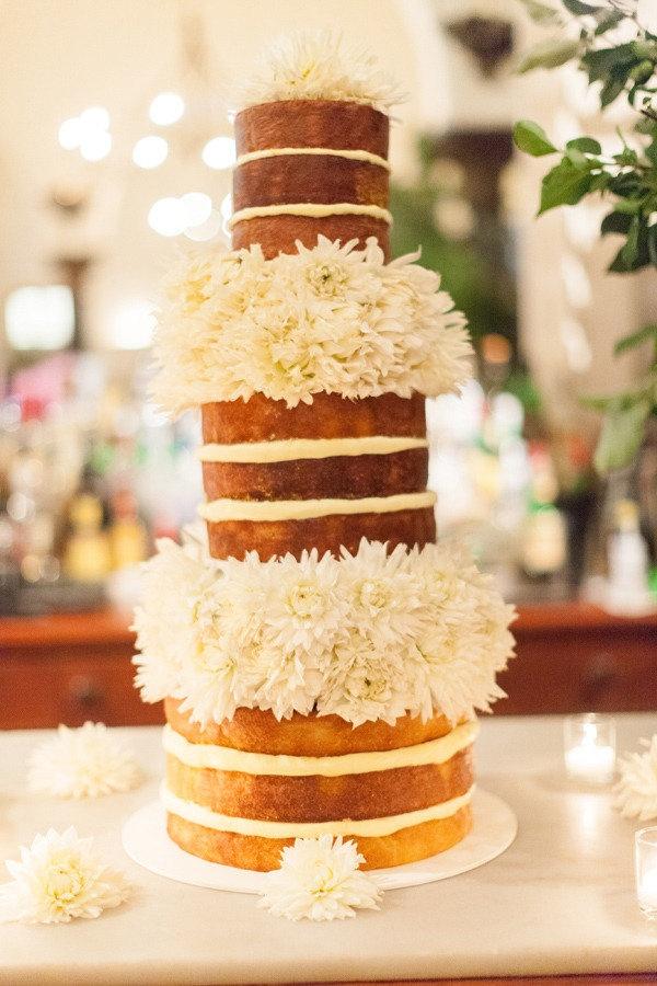 Naked Wedding Cake  Photography by Stewart Leishman