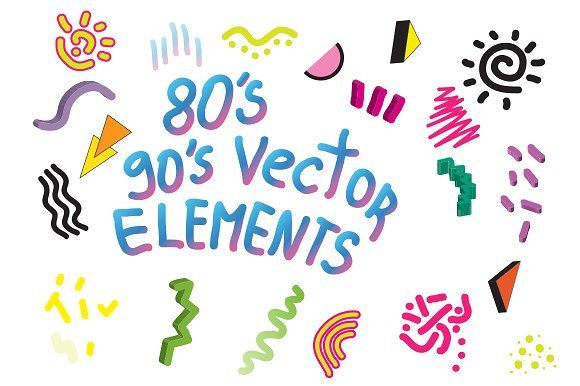 90's 80's Geometric Vector shapes by Vasare Nar on @creativemarket