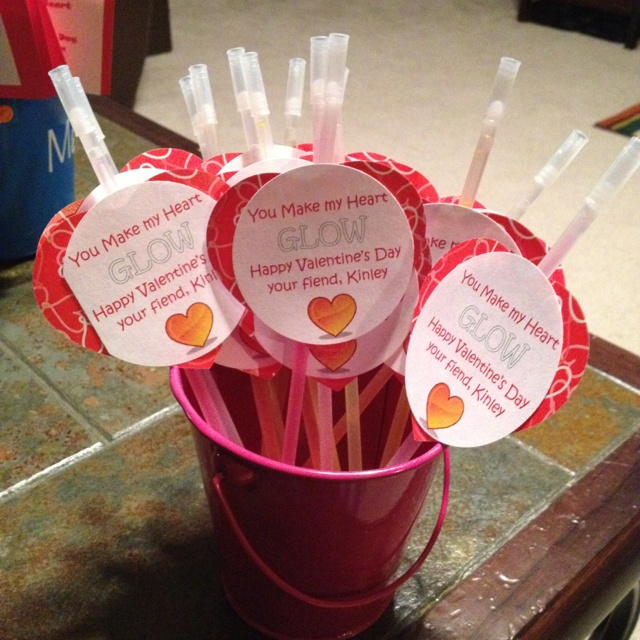 My first Pintrest project!!Valentine Day Ideas, Ideas W Glow, Holiday Ideas, Schools Classroom Ideas, Cute Ideas, Ideas Involvement, Events Ideas, Sticks Ideas, Crafty Ideas
