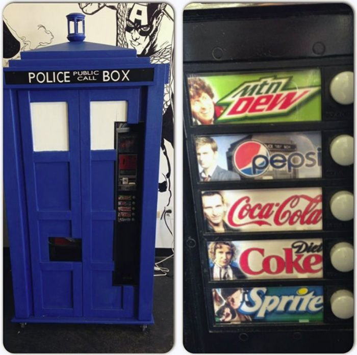 You'll Never Be Thirsty Again: TARDIS Soda Machine