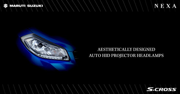 HID projector headlamps with three dimensionally contoured design that exude dynamism and enhance the overall appeal of #SCross.