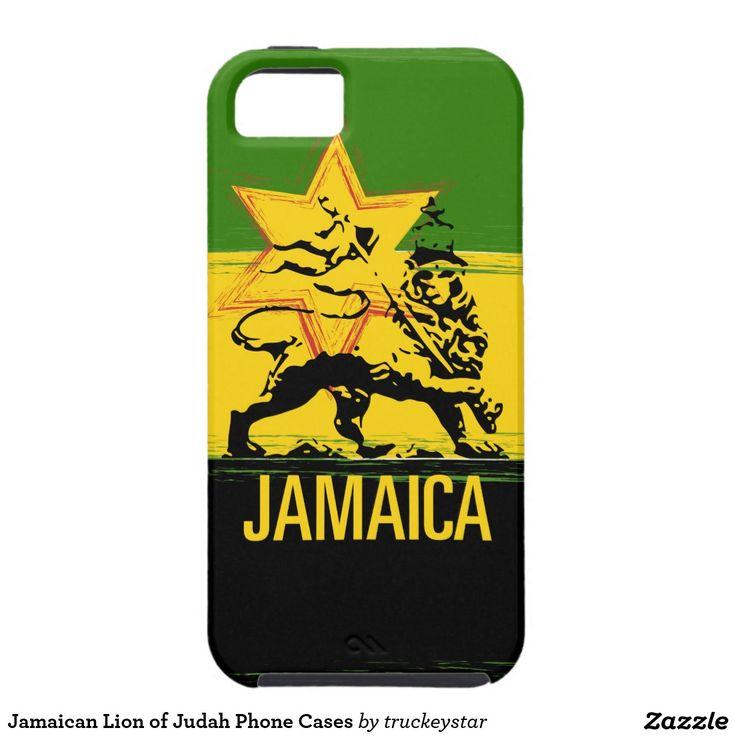 Jamaican Lion of Judah Phone Cases