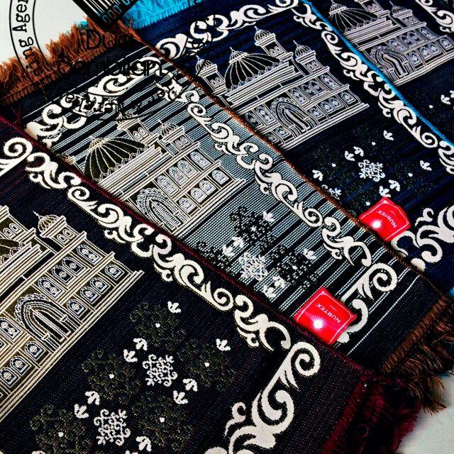 Sajadah | Sejadah Tiga Perempat | Sejadah 3/4 | Three Quarter | Carpets | Muslim Prayer Mat | Beautiful Prayer Rugs | Contemporary & Colourful |  Lots of Patterns | Various Motifs & Designs | Masjid | Mosques | High Quality | 3mm Thickness | Light Weight | Wedding Door Gifts | Malay Wedding Souvenirs | Dua Sembilan | Duaa Sembilann