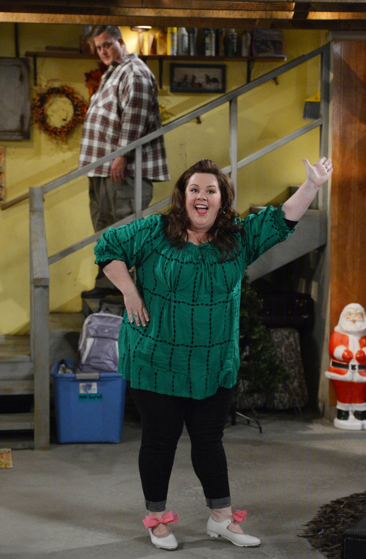 "Billy Gardell and Melissa McCarthy in Mike and Molly from ""Yard Sale"""