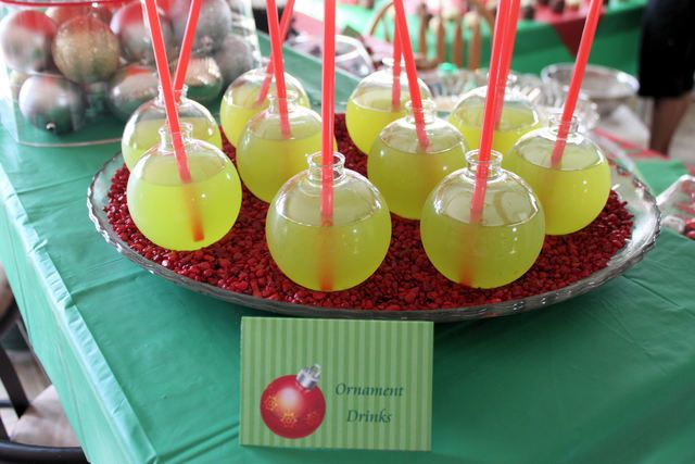 Ornament  drinks at a Christmas Party #Christmas #party