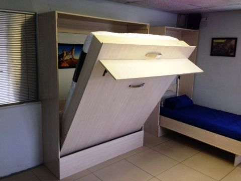 Awesome space-saver idea for small apartments in SA! Fold-A-Bed