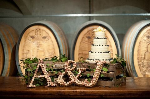DIY wine cork monogram