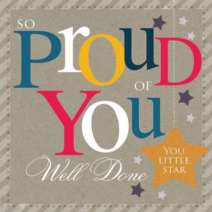 Congratulations Card - So Proud of You, Well Done, You Little Star - Greeting Cards More