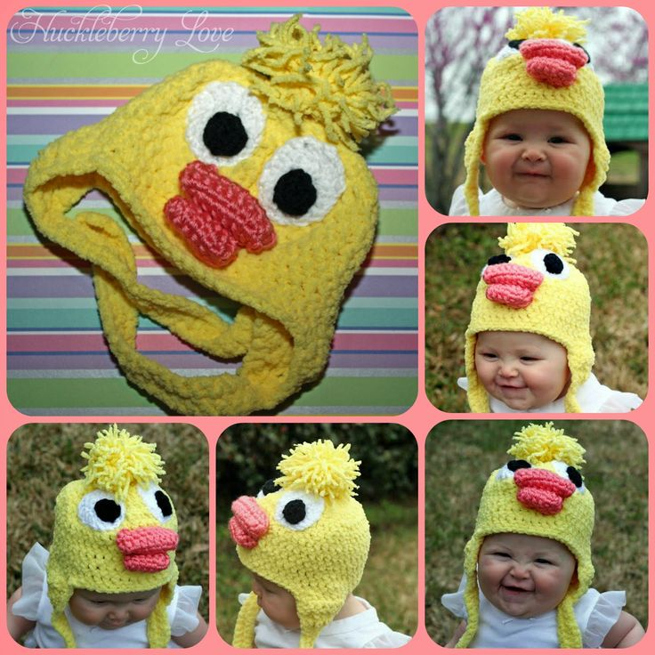 Huckleberry Love: Crochet Baby Duck Easter Hat {free pattern}