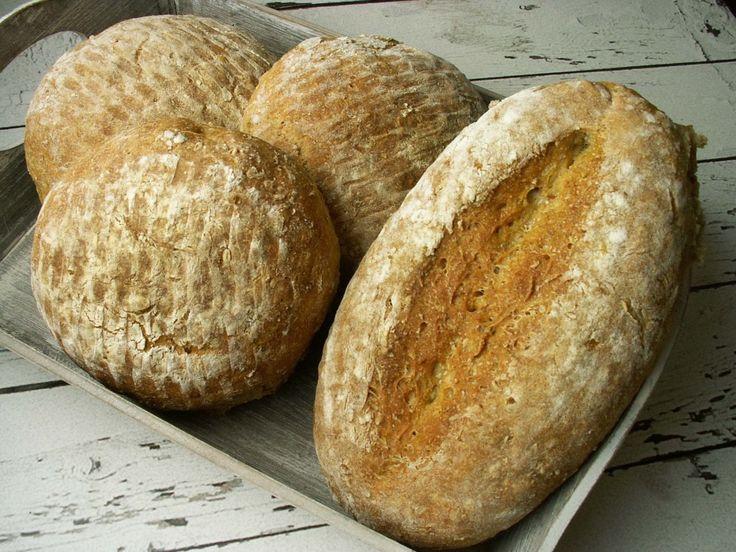 chleb pszenno - orkiszowy z płatkami żytnimi i owsianymi