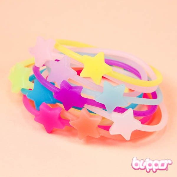 Neon Bracelet Set - Star / 10pcs - Beauty Accessories - Other Products   Blippo.com - Japan & Kawaii Shop