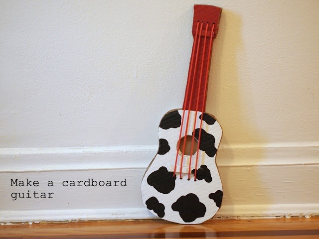 directions to make a cardboard guitar (ukulele sized)