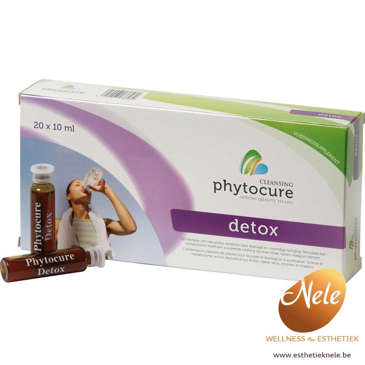 Phytocure Detox is een krachtige zuiveringskuur, zorgt voor totale reiniging en ontgifting, zuivert en herstelt de huid en heeft een anti-cellulite werking.
