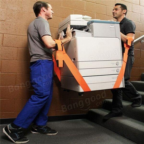 2pcs mover muebles equipo de cinturón 2inch correas de elevación motor ajustable…