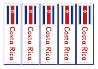 Costa Rica Bookmarks