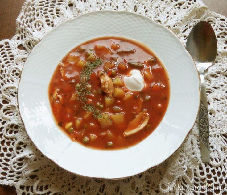Острый суп по-мексикански