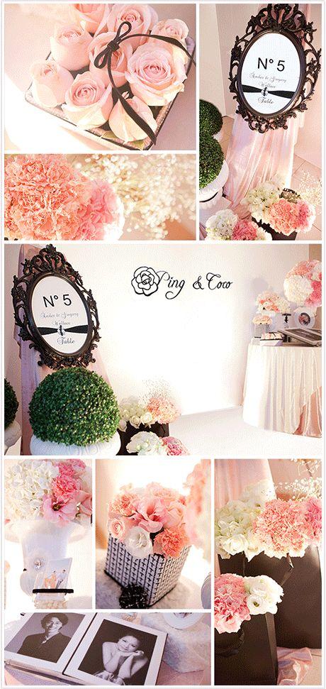 粉紅色婚禮布置