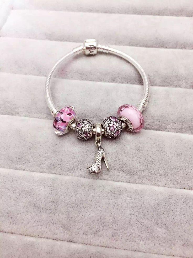 $159 Pandora Charm Bracelet Pink. Hot Sale!