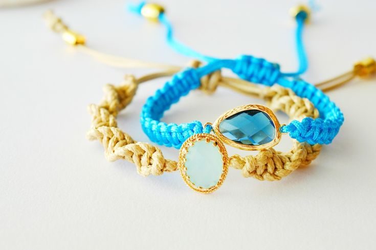 Classy Macrame Bracelets!  •  Free tutorial with pictures on how to make a braided cord bracelet in under 30 minutes