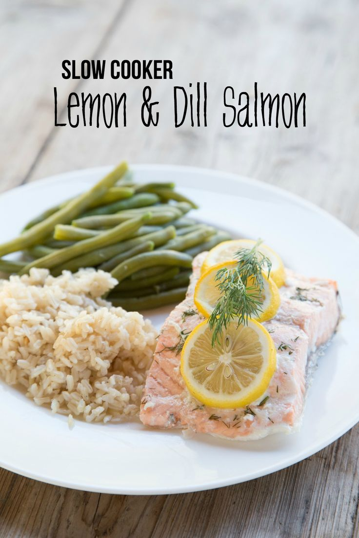 Slow Cooker Lemon & Dill Salmon ~ NEW 31 Days of Summer Slow Cooker Recipe