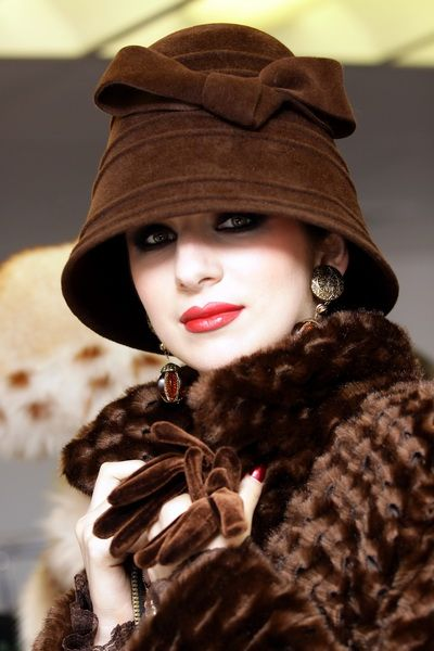 Russian fashion designer Slava Zaitsev. #judithm Well styled winter look. Keeping warm while looking fabulous! #cloche