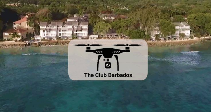 Enjoying the crystal-clear waters off Barbados.. by drone!