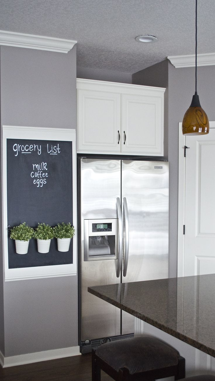 best ideas about kitchen walls dining room wall transform an awkward wall into a chalkboard wall thehatchedhome did a fabulous job and i want a grocery list wall in my kitchen too es more