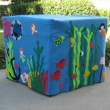 card table playhouses | Mermaid Manor Card Table Playhouse by Miss Pretty Pretty eclectic kids ...