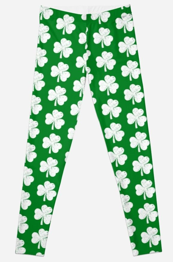 217aed48e4ee3 Distressed Shamrock Leggings. Great and funny Irish gift idea for St. Patrick's  Day to an Irish parade, festival, or party, green beer drinking at the pub.