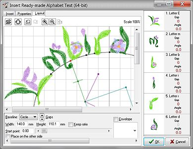 Font Engine module of Embird embroidery software allows to convert Windows TrueType or OpenType fonts into embroidery lettering.
