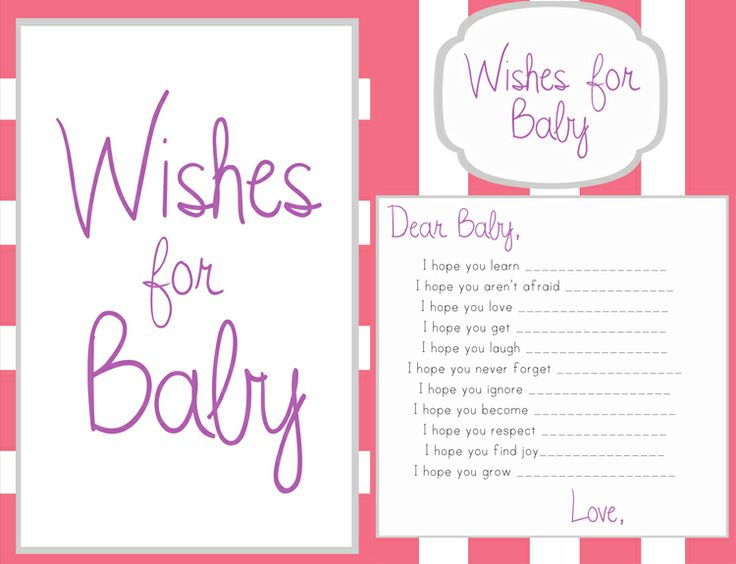 wishes for baby girl template...