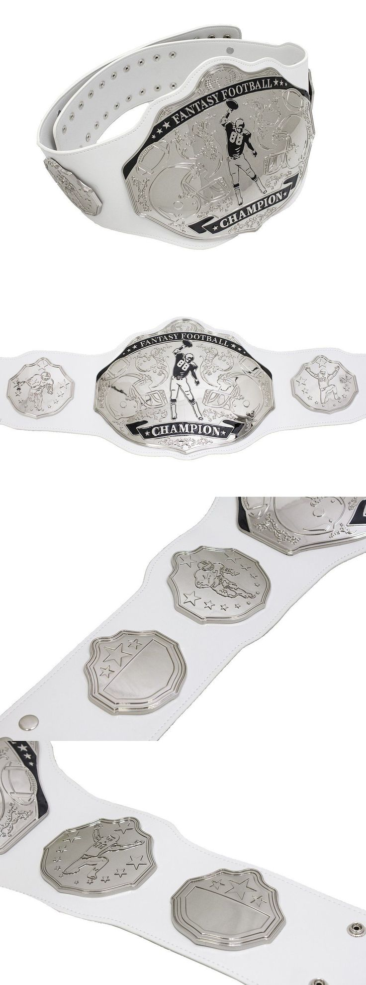 Other Football 2024: Fantasy Football Championship Belt Trophy Prize. Spike White Silver. -> BUY IT NOW ONLY: $129 on eBay!
